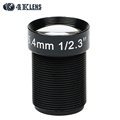 4K LENS 5 4MM Lens 1 2 3 Inch 10MP IR 60D HFOV NON Distortion for