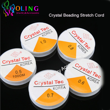 0.4 0.5 0.6 0.8 1.0MM Spool of Crystal Clear Stretch Elastic Beading Wire/Cord/String/Thread DIY Crystal Beading Stretch Cord