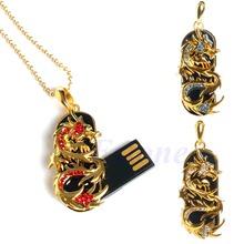 16GB Metal Dragon USB 2.0 Memory Stick Flash Pen Drive Storage Thumb U Disk free shipping(China (Mainland))