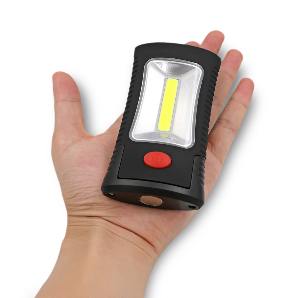 Cheapest 2-Mode COB LED Flashlight Magnetic Working Folding Hook Light Lamp Torch Linternas Lanterna Lamp USE 3x AAA Battery