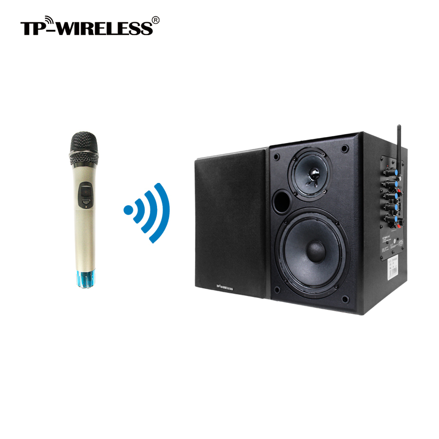 Wireless Conference Room/Church/Classroom PA System Wireless Microphone and Speaker 2.4GHz HDCD transmission audio effect(China (Mainland))