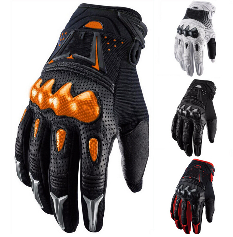 2015 New Carbon Fiber Off-road Motorcycle Gloves Genuine Leather Motocross Gloves For BMX ATV Cycling Racing Fox Bomber Gloves(China (Mainland))