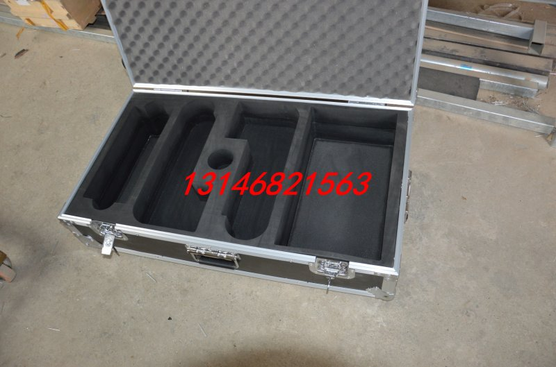 Metal toolbox | lining instrument box | sponge air box |eva sponge channel Aluminum Alloy packing box(China (Mainland))
