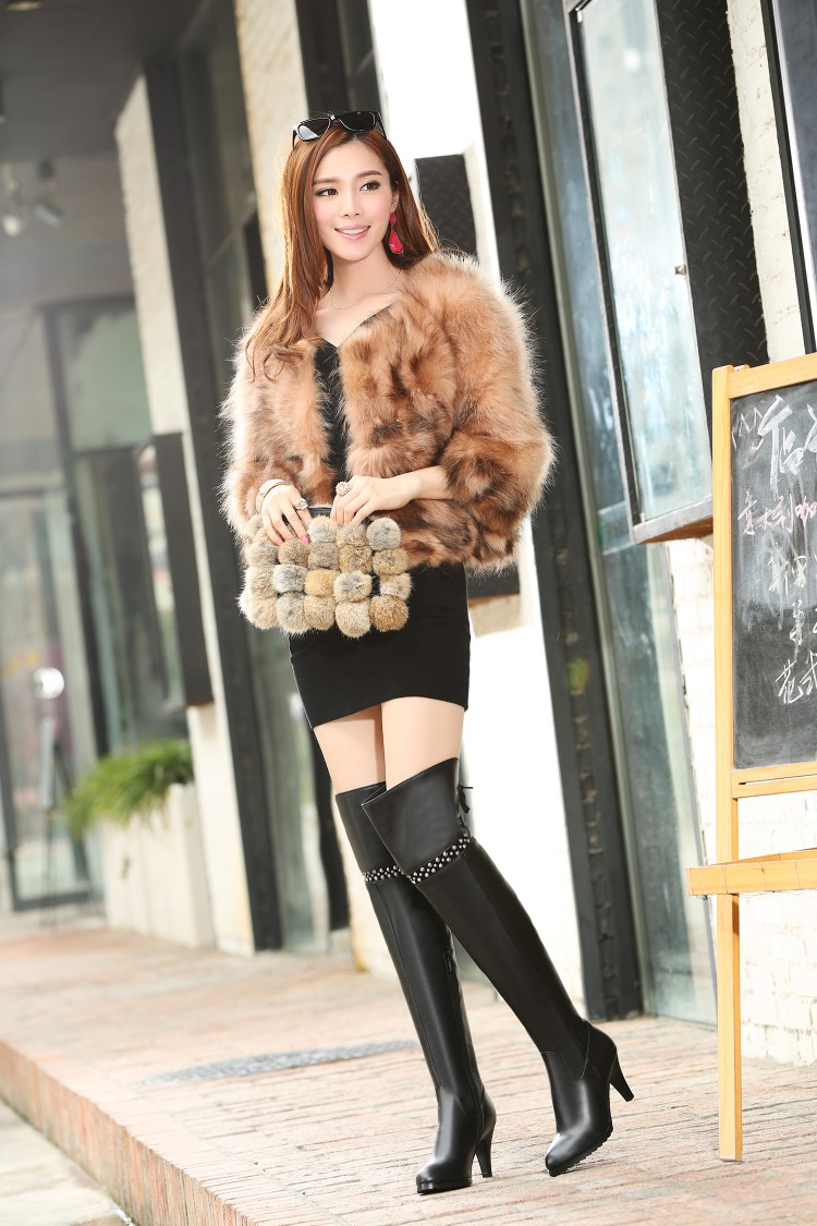 Ladies Thigh High Leather Boots