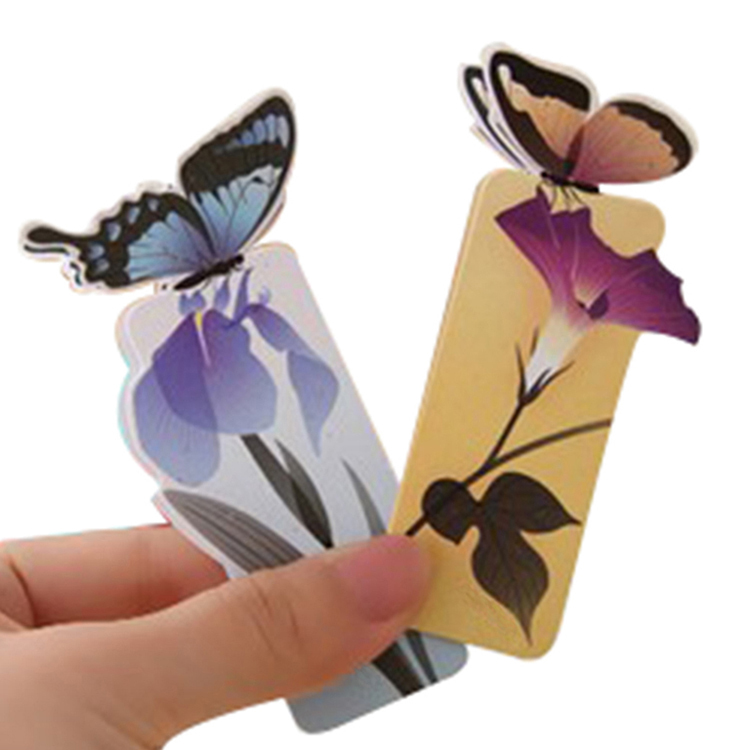 14pcs 3D Butterfly Bookmarks For Beautiful Birthday Gift cute bookmark Christmas Gift CY0001(China (Mainland))