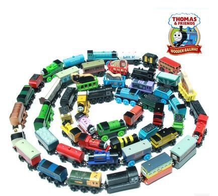 Wooden magnetic thomas and friends trains trackmaster thomas train set classic toys for children learning & education brinquedos(China (Mainland))