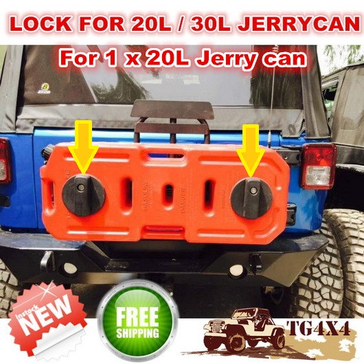 2015 NEW Lock Clamp Holder Fastener for 20L Jerry Can Petrol Fuel Tank Jerrycan with Key to ATV Motorcycle Free Shipping