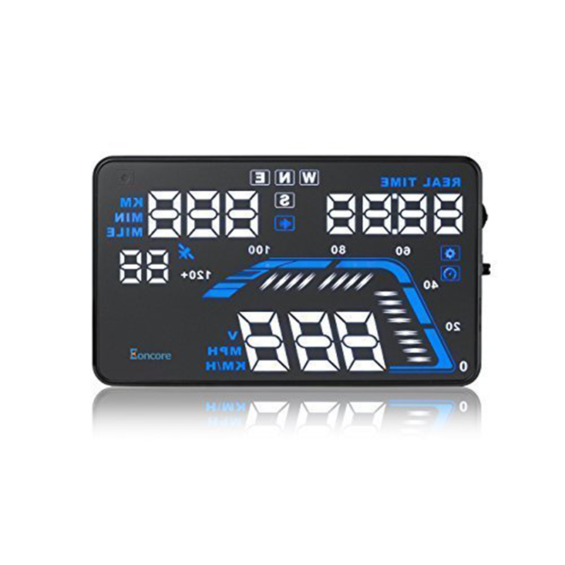 "EDFY Q7 5.5"" High Definition Display With GPS HUD Function Car Vehicle-mounted Head up Display Compatible with All Cars"