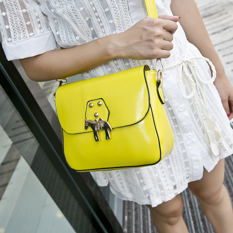 2014 women's women handbag yellow leather fashion female shoulder cross-body new bag envelope hand - fashional accessories store