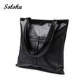 Casual Women Shoulder Bags PU Leather Female Big Tote Bags for Ladies Handbag Large Capacity Shopping
