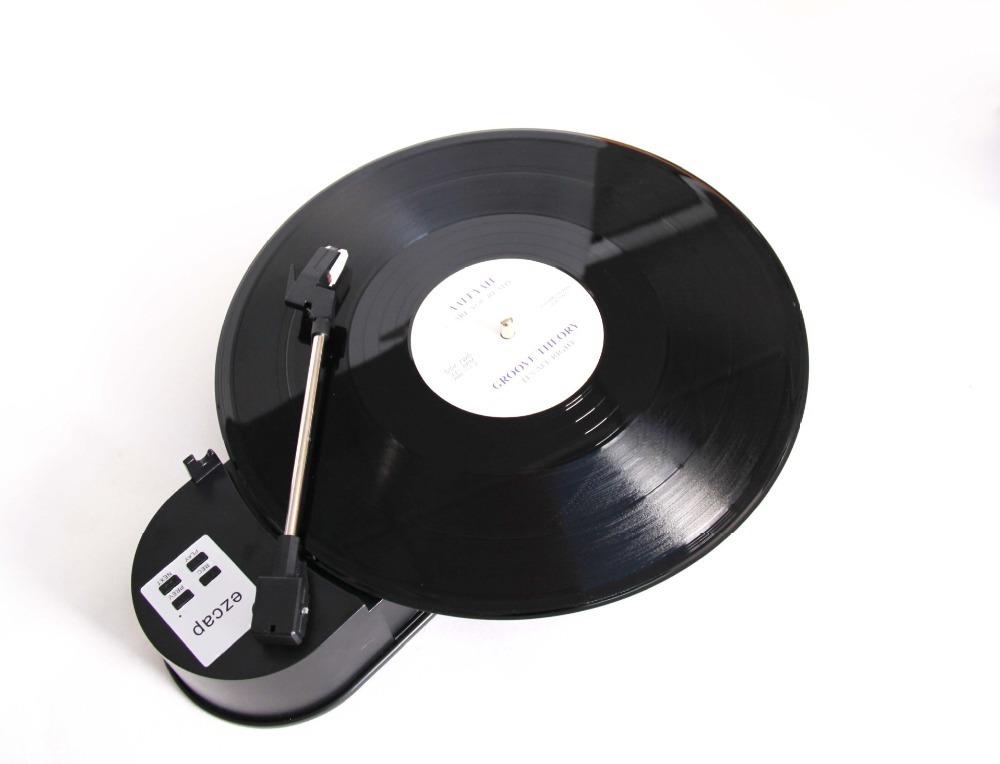 Mini Vinyl Turntable Audio Player USB Portable Vinyl Turntable to MP3/WAV/CD Converter MP3 Player 33RPM EC260-PC
