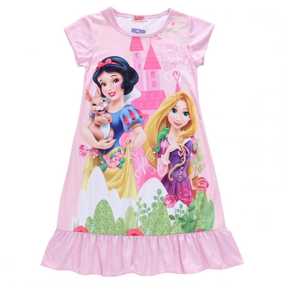New Girls Kids Fashion 2016 Summer Elsa Dress Vintage Baby Dresses Clothing ,Anna Party Princess Dress Girl Clothes Nightgown(China (Mainland))