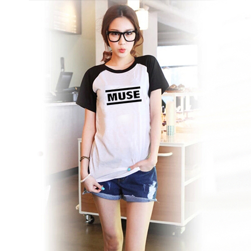 Muse Printed Black White Raglan Sleeve Women T-shirt Swag Clothes Cool Tshirts Japanese Harajuku Mori Top Tee - Tshirt store