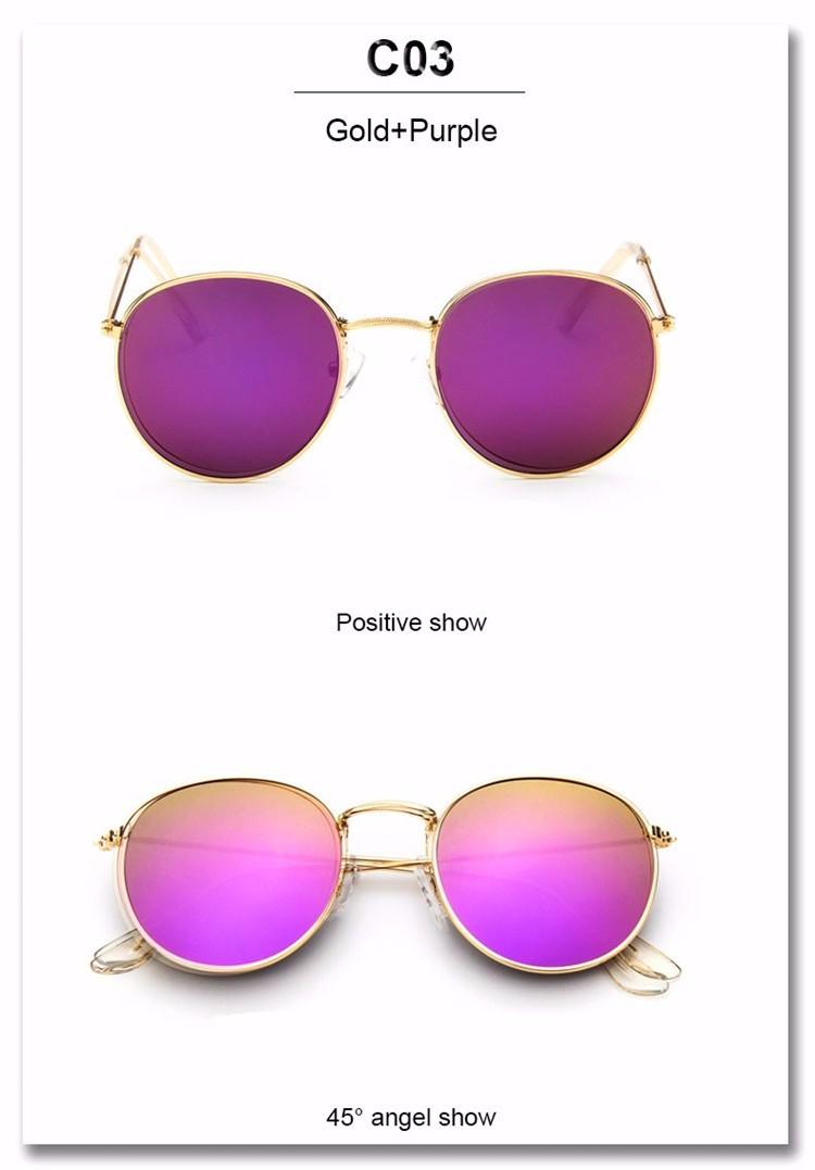 Luxury Brand Design Round Sunglasses Women Men Brand Designer Vintage Retro Mirror Sun Glasses For Women Female Ladies Sunglass (20)
