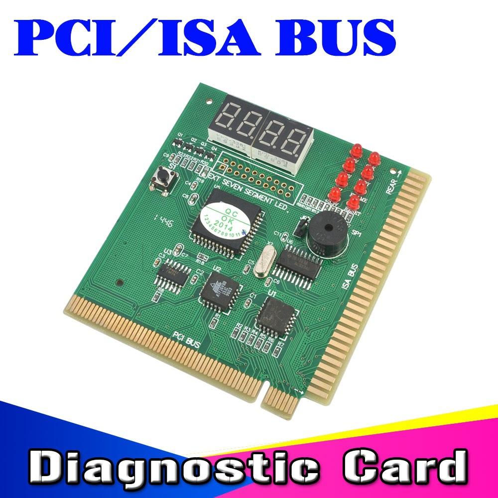 2015 Useful PCI & ISA Bus MB Motherboard Tester Diagnostics PC Computer Mother Board Mainboard Debug POST Card 4-Digit Analyzer(China (Mainland))