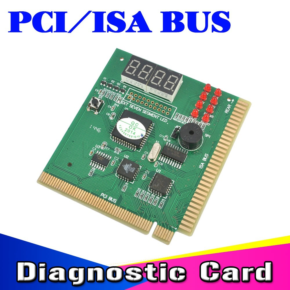 2015 Useful PCI & ISA Bus MB Motherboard Tester Diagnostics PC Computer Mother Board Mainboard Debug POST Card 4-Digit Analyzer(China (Mainland))