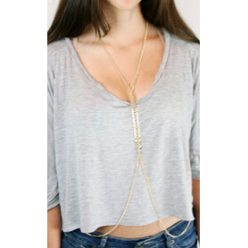 Fashion gold plated fish bone chain body jewelry sexy jewelry for women E shine Jewelry T2221