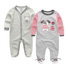 2019 одежда для малышей хлопковый Детский комбинезон с длинными рукавами, костюм с героями мультфильмов ropa bebe, Одежда для новорожденных мальч...(China)