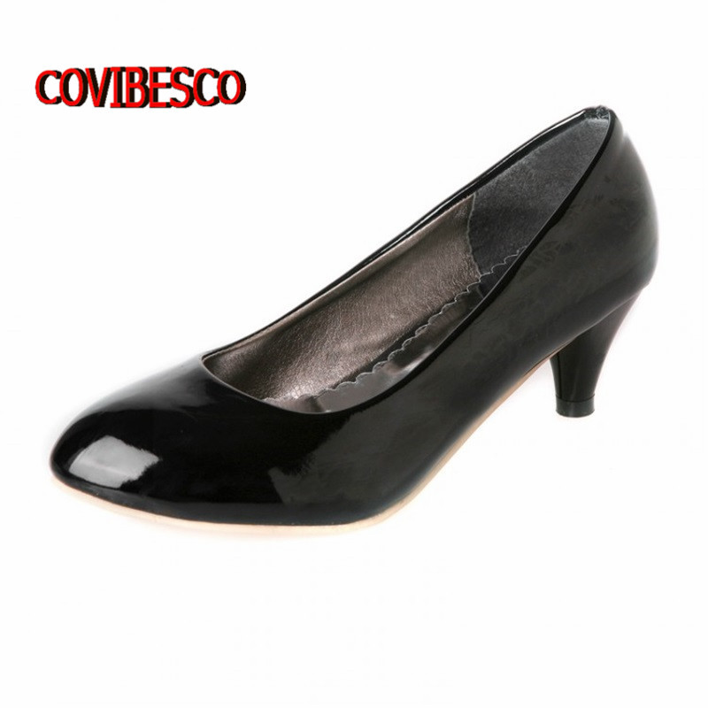 candy colors high heels women pumps patent leather little red peas shoes causal style - COVIBESCO Ltd's store