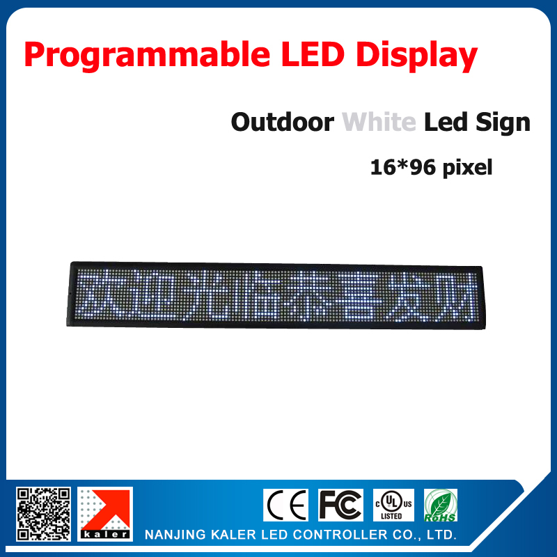 16*96 dots p10 1/4 scan outdoor led sign billboad advertising led display white high bright moving text led display screen(China (Mainland))