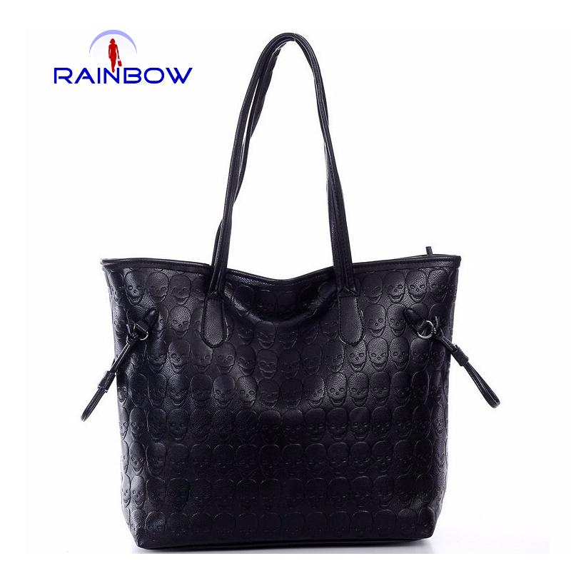 New brand 2015 women handbags fashion PU leather shoulder bag portable double root bags women's print purses(China (Mainland))