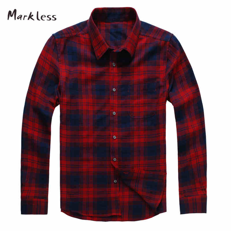 Markless 2016 autumn casual thin shirts for men long Shirts for thin guys