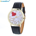 Hcandice Relogio Feminino Love Patterns Fashion Colored PU Leather Women Watch Horloge May4