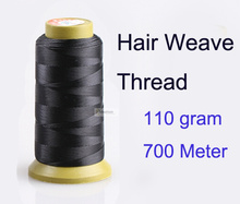 1pc 700 meter 110g Hair weave Thread for weaving needle Brazilian Indian hair weft extension sewing salon styling tools(China (Mainland))