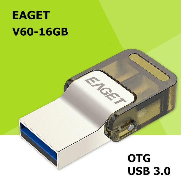 EAGET V60 USB 3.0 100% 16GB Smart Phone Tablet PC USB Flash Drives OTG external storage Micro USB3.0 16G pen drive memory stick(China (Mainland))