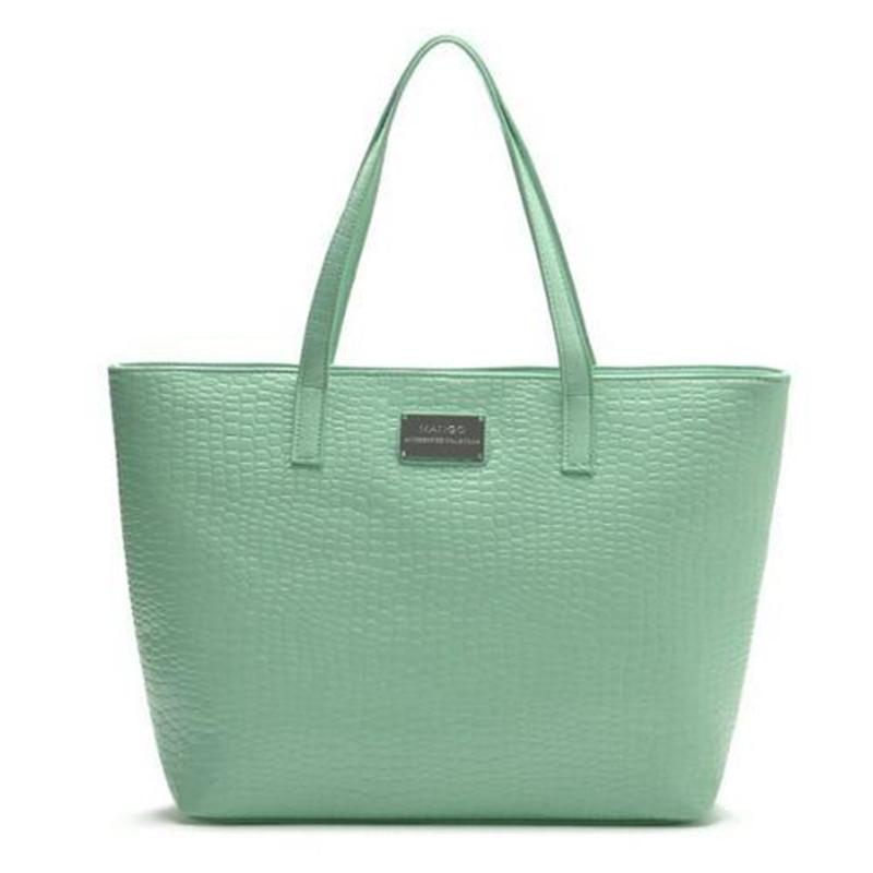 Women Handbag Handbags Hot New 2015 Mng Stone for Grain Soft Pu Color Mango Shoulder Bag Shopping Contracted Joker Womens Only