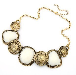 Ожерелье завод оптовая продажа старинные геометрические площадь подвеска короткое с для женщин колье