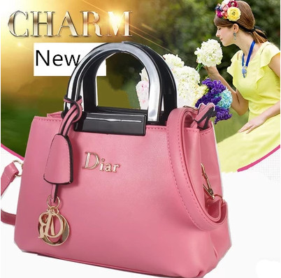 2015 new spring summer Europe America sweet candy colored bucket bag handbag shoulder Mobile Messenger wild - Aesthetic market bags store