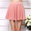 New 2016 Summer Skirts Women s Clothing A Line Chiffon short Solid Miniskirts European and American
