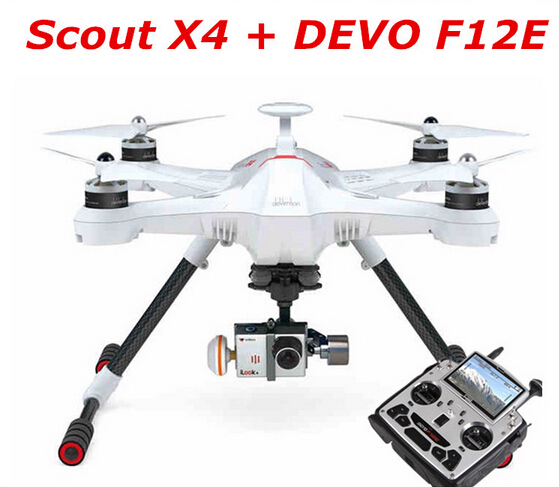 Original Walkera Scout X4 with DEVO F12E GPS FPV RC Quadcopter Drone  RTF for Gopro 3 FPV with G-3D Gimbal and iLook+ Camera<br>