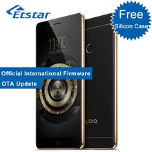 מקורי zte nubia z11 5.5 ''mobile ללא שוליים פרו טלפון 6 gb ram 64 gb rom snapdragon 820 quad core 3000 mah טביעת אצבע(Hong Kong)