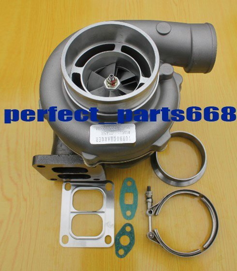 "GT45R -3 A/R .70 turbine A/R 1.15 T4 oil GT45 Turbo charger 4"" v-band turbocharger gasket v band clamp"