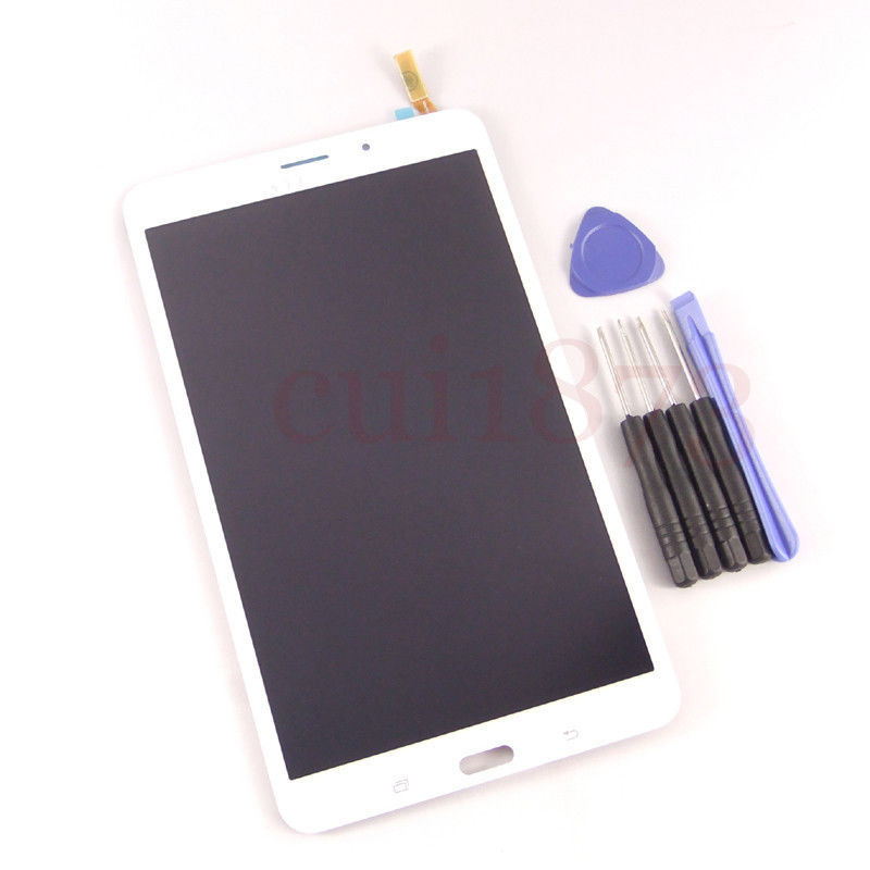 Free shipping top quality For Samsung Galaxy Tab 3 8.0 SM-T311 T311 3G White LCD display touch Screen digitizer Assembly tools(China (Mainland))