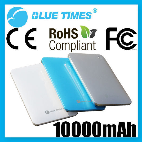 Portable 10000mAh Super Slim Dual USB Mobile Phone Power Bank External Battery for Galaxy S3 S4 iPhone iPad HTC