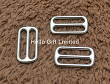 "10pcs 1"" Silver Metal Slider Tri Glide Adjustable Buckles for Dog Collar Backpack Bag Luggage Accessory Webbing Size 25mm(China (Mainland))"
