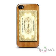 For iphone 4/4s 5/5s 5c SE 6/6s plus ipod touch 4/5/6 mobile cellphone cases cover New HARRY POTTER Platform Ticket Hogwarts