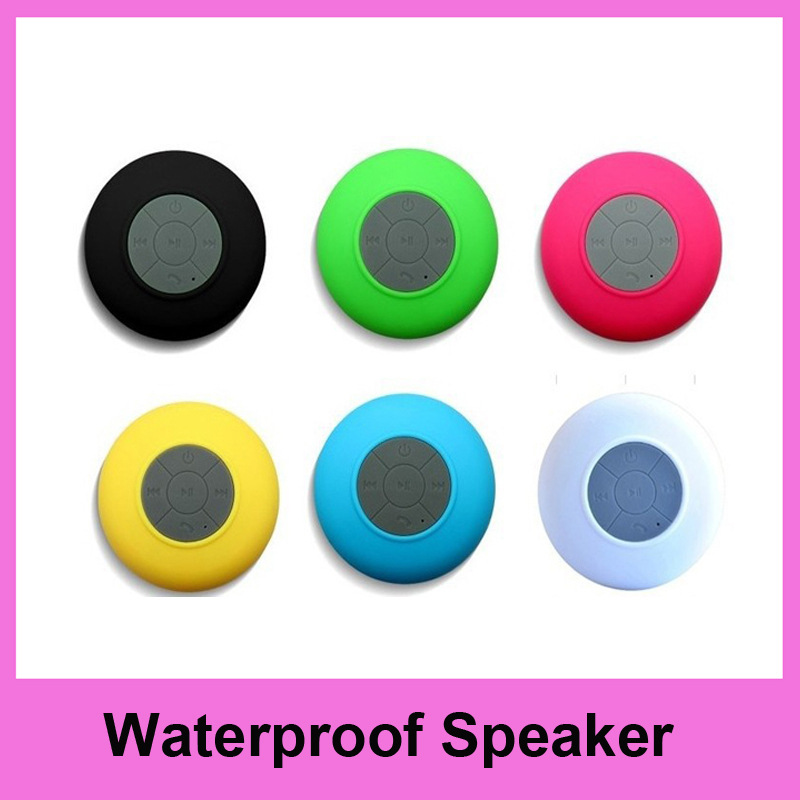 50pcs Bluetooth Waterproof Speaker Portable Shower Speaker Handsfree Speaker for iphone for Samsung for android phones(China (Mainland))