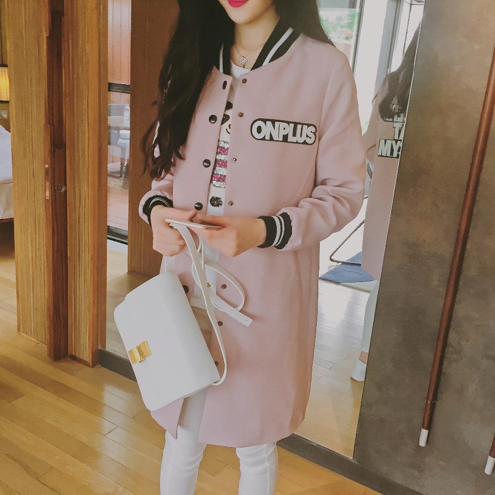 New 2016 Spring Fashion Long Women Baseball Jackets Autumn Women Jackets Coats Slim Long Sleeve Casual Jacket Female Clothing(China (Mainland))