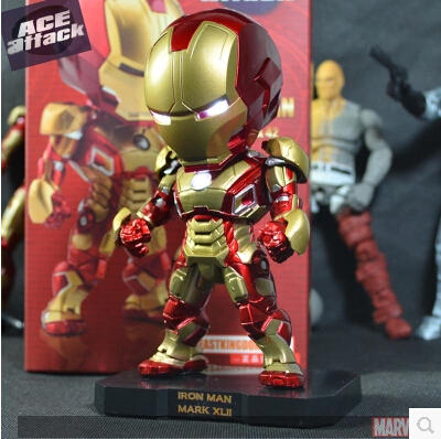14cm Super Heroes Avengers Iron Man 3 ACE Attack Mark VII MK 42 PVC Model Toy Gift Toys Compatible Action Figure - candy nana toy store