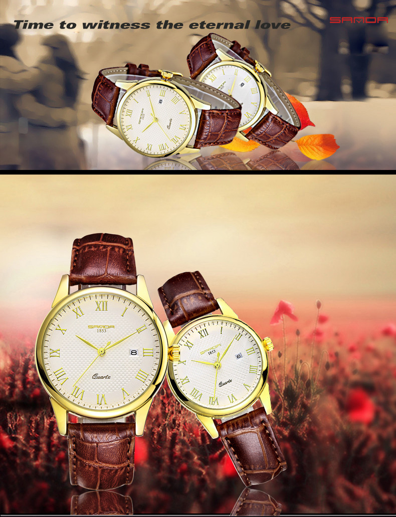 2016 Luxury Men's Watch Fashion Quartz-watch Waterproof Man Watches 2016 Brand Luxury Relojes Hombre Leather Relogios masculinos