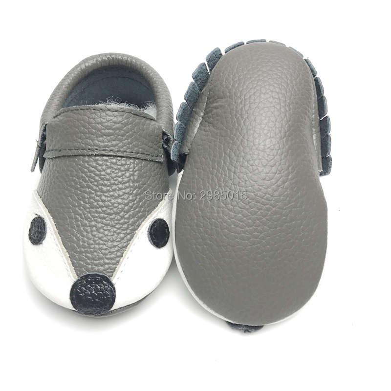 New Fashion Newborn Baby Shoes Genuine Leather Fox Style With Bow And Without Bow Moccasins Girl Baby First Walker  Shoes