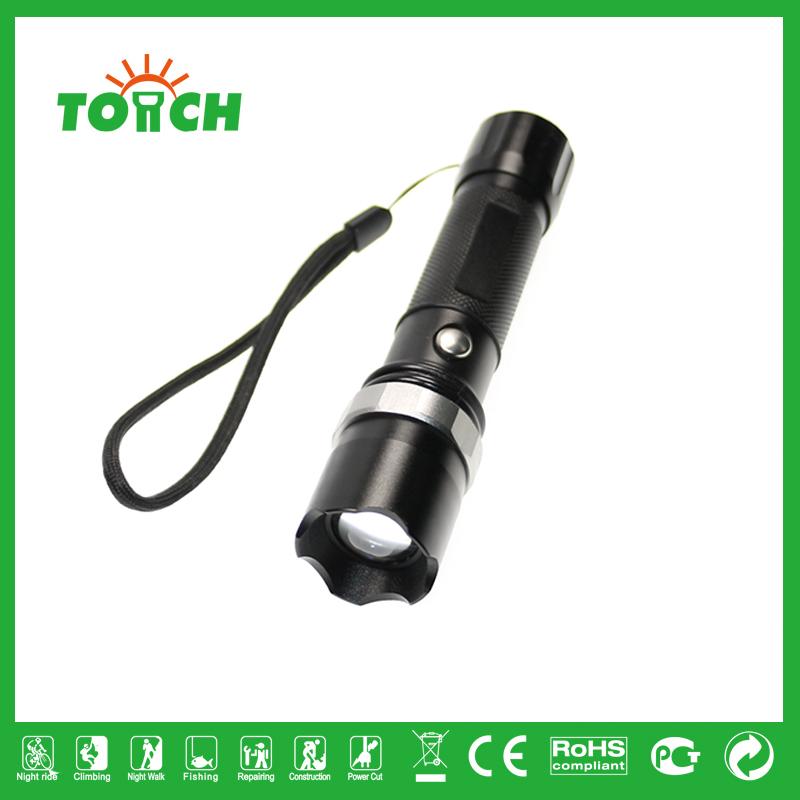 Classic SWAT FlashLight 1000LM CREE Q5 3 Modes LED Flash lights Zoom Torch Lantern Hunting Spotlight,Use AAA 18650(China (Mainland))