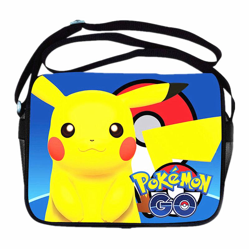 Anime Pokemon Go Handbags Pocket Monster/Pokemon Pikacun Messenger Bag Girls Boys School Bags Kids Book Bags bolsa Shoulder bag(China (Mainland))