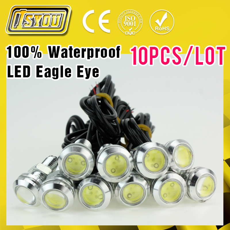 10pcs High Brightness DRL LED12V Silver Shell Eagle Eye Daytime Running Light Car Light Source Waterproof Parking Tail Lamp(China (Mainland))