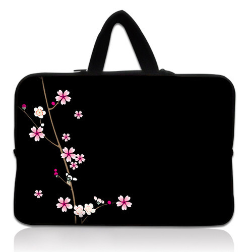 Free Shipping 17 Black with flower  Laptop Sleeve Bag Case+Hide Handle For 17.3 HP Pavilion dv7,G7,E17<br><br>Aliexpress