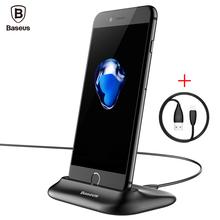 Baseus Зарядное Док-Станция Для iPhone 7 6 6 s Plus se 5S 5 обои для рабочего Док USB Синхронизация Данных Зарядка для Док-Станции Стенд + Кабель Для iphone(China (Mainland))